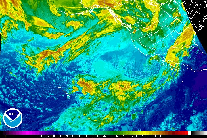 NE Pacific IR Radar
